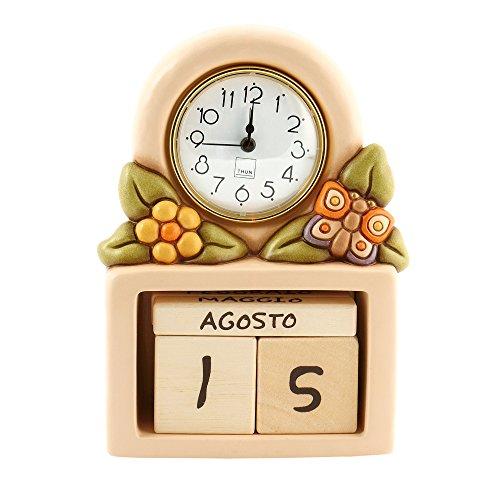 Thun country calendario perpetuo con orologio, ceramica, variopinto