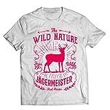 1 Stück T-Shirt Vintage Jägermeister Geschenk JAG Geschenk Geburtstag Weis (XL)