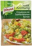 Knorr Salatkrönung Croutinos mit Sonnenblumenkernen Croutons, 10er-Pack (10 x 25 g)