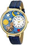 Whimsical Watches Unisex G1810007 Leo Royal Blue Leather Watch best price on Amazon @ Rs. 1467