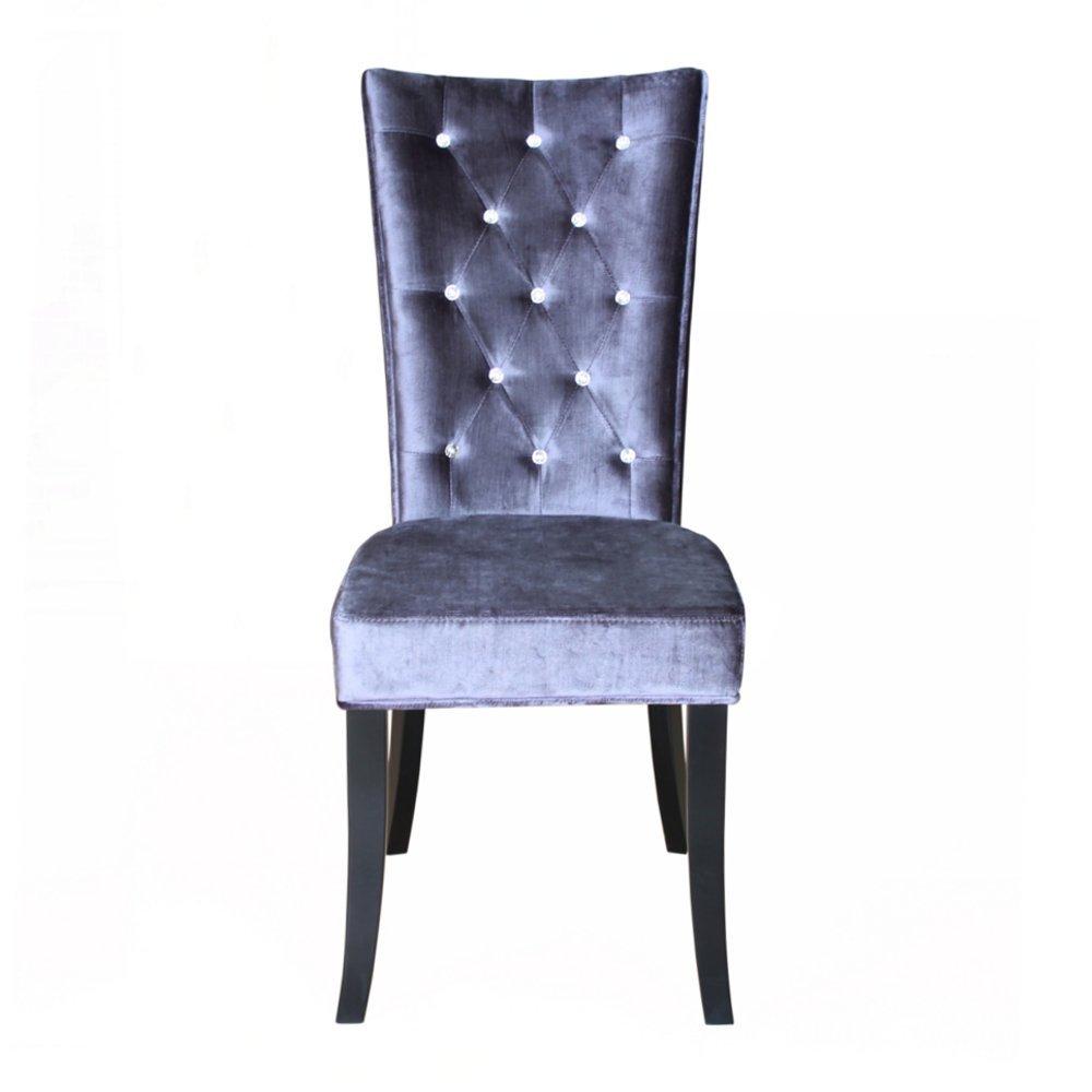 radiance purple velvet dining chair. radiance velvet dining chairs set of 2 (silver, crushed velvet): amazon.co.uk: kitchen \u0026 home purple chair n
