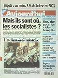 AUJOURD'HUI EN FRANCE [No 376] du 30/08/2002 - MAIS ILS SONT OU LES SOCIALISTES - MEURTRE DE LA SOMME - L'ADIEU A CHRISTELLE DUBUISSON A CORBIE - LIGUE DES CHAMPIONS - DUR DUR POUR LES CLUBS FRANCAIS - DE PLUS EN PLUS DE PROFS STAGIAIRES - ASSASSINE A CAUSE D'UN MARIAGE FORCE - CORSE - LA SNCM DANS LA TEMPETE...