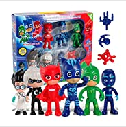 6pcs/lot PJ Masks  Cloak Action Figures Doll Toy