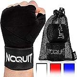 NOQUIT  Profi Boxbandagen - 4m Länge - halbelastisch - mit Wasch - & Transportbeutel - Kampfsport Bandagen mit Daumenschlaufe für Perfekten Schutz Beim Boxen, MMA, Thai- & Kickboxen