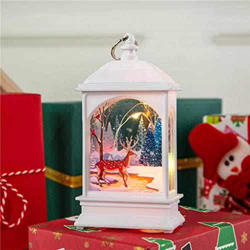 Christmas Kleine öllampe Lichterkette Creative Weihnachtskerze Mit Led Lichtschmuck Craft Weihnachten Schneemann Drucken Anhänger Decor Hanging Pendant Leuchtende Nachtlicht
