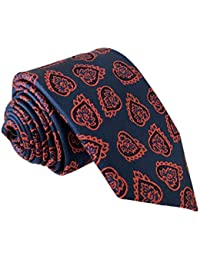 41a7aa801821c TED BAKER London Men s 100% Woven Silk Neck Tie - Blue   Red Leaves(