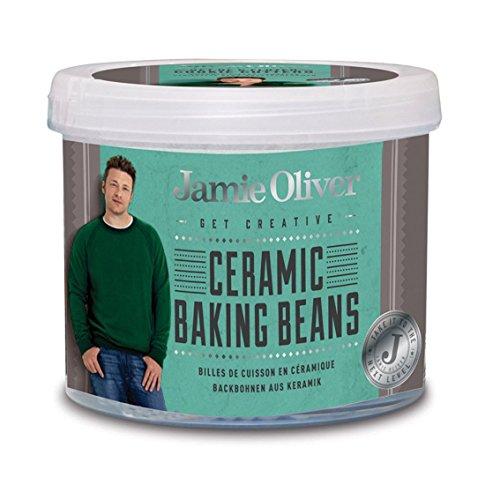 Jamie Oliver Backbohnen aus Keramik Backutensilien, weiß, 10 x 10 x 3 cm