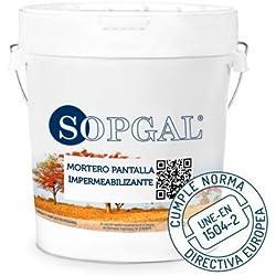 Mortero Pantalla Impermeable de Sopgal - 20 kg