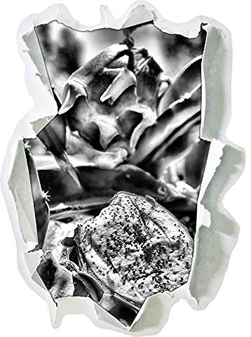 Monocrome, délicieux fruit du dragonPapier aspect 3D, la taille de la vignette mur ou de porte: 62x45cm, stickers muraux, sticker mural, décoration murale