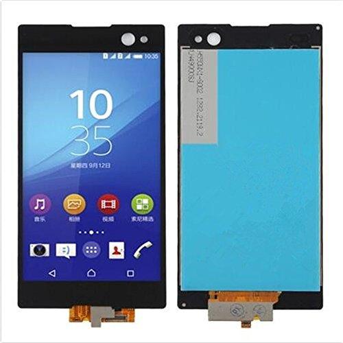 Sony Xperia C4 C5 Z3+ Z4 M5 Display im Komplettset LCD Ersatz Für Touchscreen Glas Reparatur (Sony Xperia C3 D2533, Schwarz)