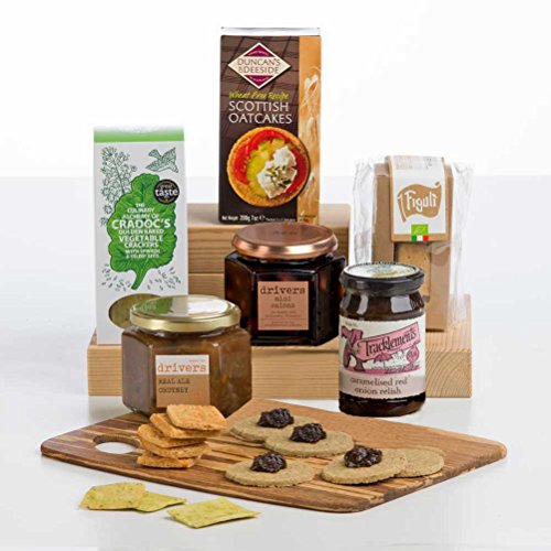 Cheese Lover's Cheese Accompaniments Gift by Hay Hampers - Chutneys, Pickles, Crackers and Cheeseboard