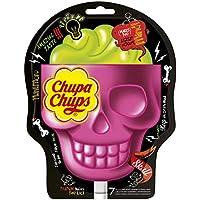 Chupa Chups Sucettes 3D Skull Parfum Bi-Goût Fraise-Citron Vert - Sachets de 7x15g chacun -