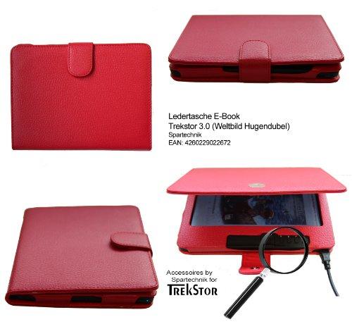 Rote Tasche für Trekstor 3.0 von Hugendubel Weltbild Jonkers E-Book Reader - bestes Case für E-Book Reader Trekstor 3 - Elektronisches Buch Farbe - karminrot