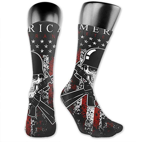 Kkyoxdiy Compression Socks for Men Women America Veteran Day Memorial Day Independence Boost Football Socks 40cm -