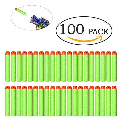 100er HASBRO Darts Nachfüllpack N-Strike Mega Schaum soft Elite Pfeile Blaster für Nerf Zubehör Toys Bullets, grün (Grüner Pfeil 100)