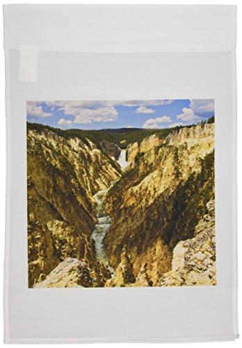 3dRose FL_97476_1 Wyoming, Yellowstone NP, Falls on Yellowstone River-US51 LDI0097-Larry Ditto Gartenflagge, 30,5 x 45,7 cm