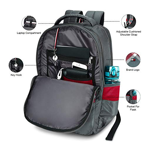 Tommy Hilfiger Alps 29 Ltrs Grey Laptop Backpack (TH/ALPSLAP07) Image 5