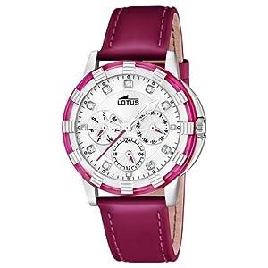 Reloj analógico Lotus 15746/7 de cuarzo para mujer con correa de piel, color rojo