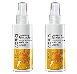 2 X Avon Foot Works Cooling Foot & Shoe Spray ''Exotic Paradise'