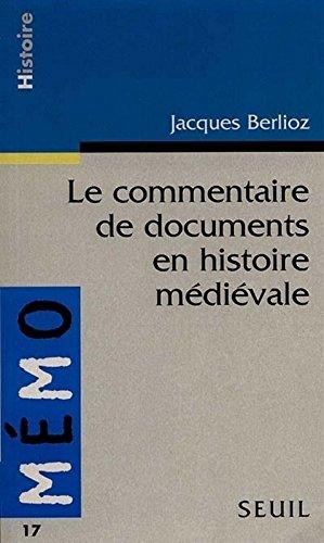 Le Commentaire de Document en Histoire médiévale