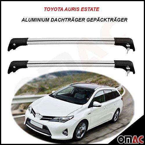 Toyota Auris Estate ab 2013 Alu Dachträger Gepäckträger Grau Wing Carrier Schlüssel V2