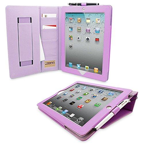 Snugg iPad 2 Caso (Porpora), Copertura Ecopelle Intelligenti 'Executive', Rivestimento