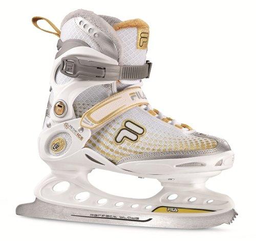 Fila Damen Schlittschuh Primo Ice Lady, Weiß/Gold, 37, 010413015