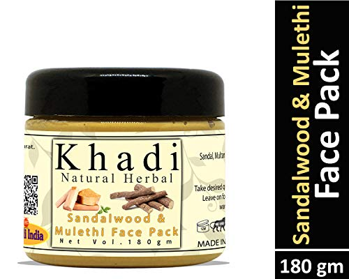Khadi Natural Herbal Sandalwood and Mulethi Face Pack Mask 180gm