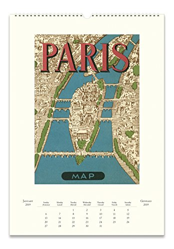 Cavallini Papers & Co. 2019 Paris Wandkalender, Mehrfarbig