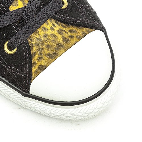Converse Chuck Taylor All Star Junior Animal OX, Stivaletti Bambina Schwarz / Leopardenmuster