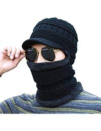 Sombrero de pasamontañas de Invierno cálido Bufanda de Punto Sombrero de  esquí ... 385bc5ce93e