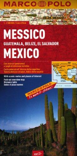 Messico, Guatemala, Belize, El Salvador 1:2.500.000 (Carte stradali Marco Polo)