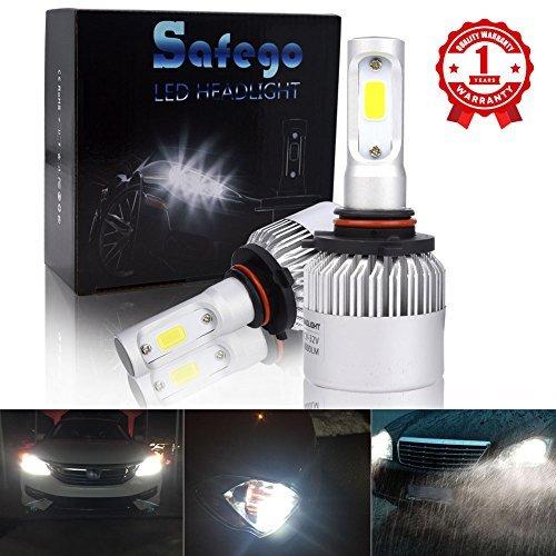 Safego HB3 9005 LED Faro Bulbi Auto LED Luci 8000LM Super Luminosa Lampada con COB Chip per Auto/furgone/camion/veicolo Faro Della Luce Delle Lampadine dell'automobile Kit LED 6000K Bianco 12V DC