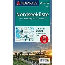 Nordseeküste von Hamburg bis Dänemark: 2 Wanderkarten 1:50000 im Set inklusive Karte zur offline Verwendung in der KOMPASS-App. Fahrradfahren. Reiten. (KOMPASS-Wanderkarten, Band 723)