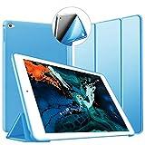 Custodia per iPad Air 2, VAGHVEO Ultra Sottile e Leggere [Auto Svegliati/Sonno] con Protezione Elevato Morbido TPU Soft Silicone Smart Cover Case per Apple iPad Air 2 (Modelli A1566 A1567), Azzurro