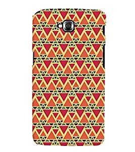 Printvisa Red And Orange Triangle Patterns Back Case Cover for LG GPro Lite::LG G Pro Lite Dual D686