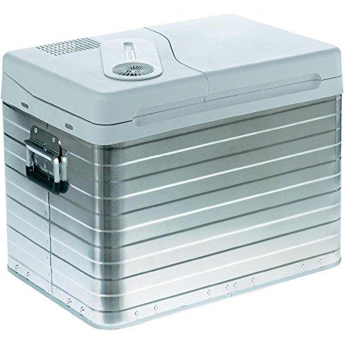 Mobicool Q40 AC/DC - Nevera termoeléctrica portátil, conexiones 12/230 V, 39 litros de capacidad, color aluminio