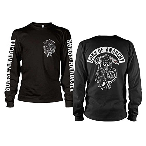 Officially Licensed Merchandise SOA Backpatch Long Sleeve T-Shirt (Black), Medium