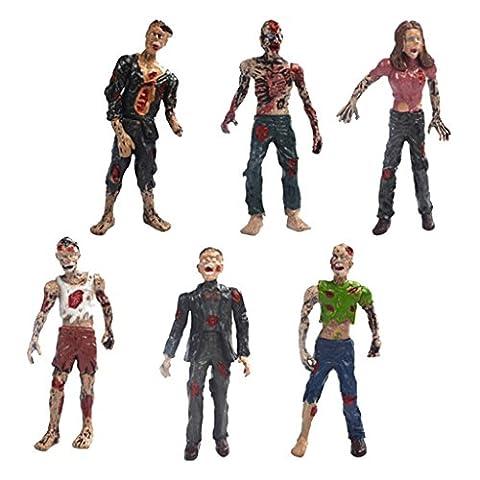 Gazechimp Walking Leichen Zombie Action Figuren ca. 10 cm für Filmfiguren Sammlun 6 pcs