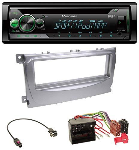 caraudio24 Pioneer DEH-S410DAB USB MP3 DAB AUX CD Autoradio für Ford Galaxy C-Max Focus ab 2007 Silber 04 Auto-stereo-subwoofer