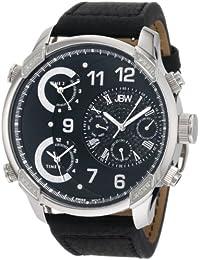 JBW-JUST BLING  J6248LB - Reloj de cuarzo para hombre, con correa de cuero, color negro