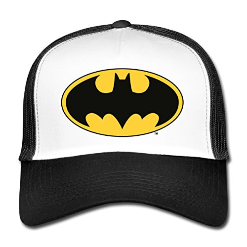 Spreadshirt DC Comics Batman Logo Fledermaus Klassisch Trucker Cap, Weiß/Schwarz (Logo Fledermaus)