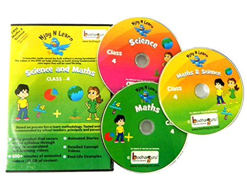 Njoy N Learn Cbse Class 4 DVD Set - Maths and Science