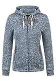 DESIRES Thory Damen Fleecejacke Sweatjacke Jacke mit Kapuze und Daumenlöcher, Größe:L, Farbe:Insignia Blue (1991)