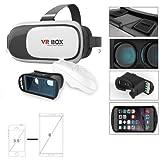 Virtual Reality-Headset - VR und 3D Brille für iPhone und Android (4 - 6 Zoll / 10,16 - 15,24 cm) einschließlich Gamepad für Bluetooth-Controller. VRHeadset in den Farben Schwarz und Weiß.