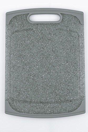 culinario Schneidebrett ca. 25 x 14 cm, in grauer Granit-Optik mit Germo SAFE Hygieneschutz