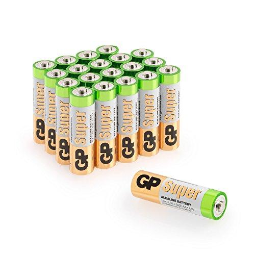 GP Batterien AA (Mignon, LR6) 1.5V, 20 Stück Vorratspack, Super Alkaline Longlife Technologie -