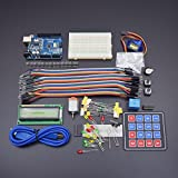 #5: REES52 Arduino UNO Project Starter Kit for Arduino w/UNO R3 Development Board (SMD IC), LCD1602, Membrane Switch, Servo, TOY Motor AND OTHER ELECTRONIC COMPONENTS