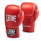 Leone 1947 GN010 Contest, Guantoni Boxe Unisex – Adulto, Rosso, 10OZ