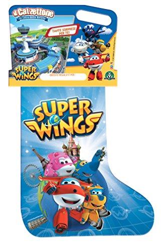 Giochi Preziosi - Calzettone 2018 Super Wings, Calza con Sorpresa